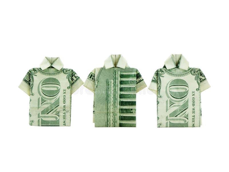 De Overhemden van het geld stock foto