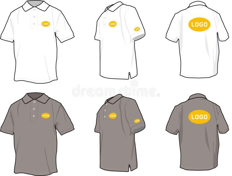 De overhemden van het polo vector illustratie
