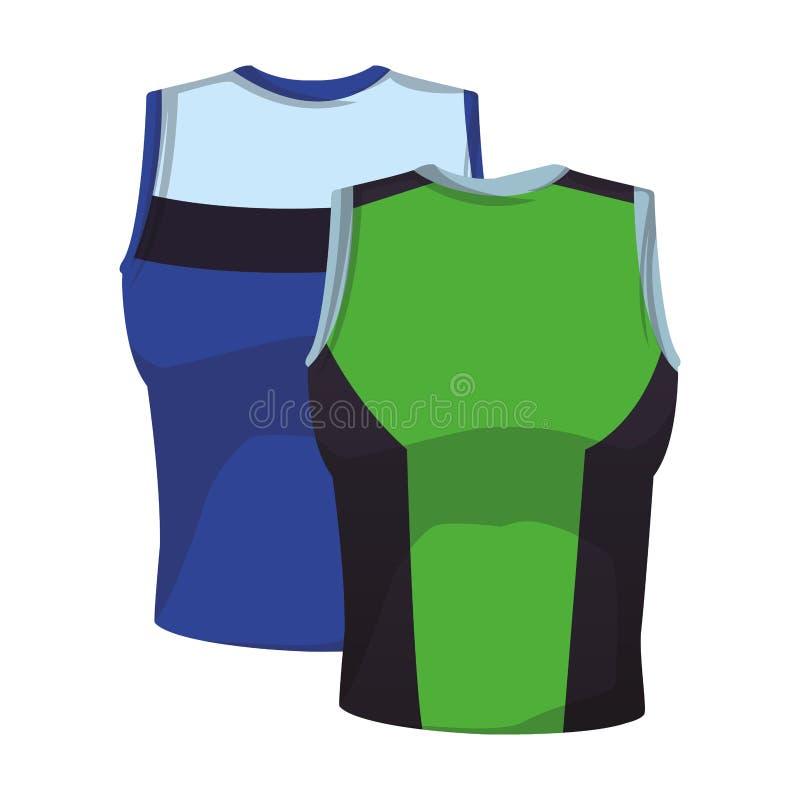 De overhemden van de sportkoker stock illustratie