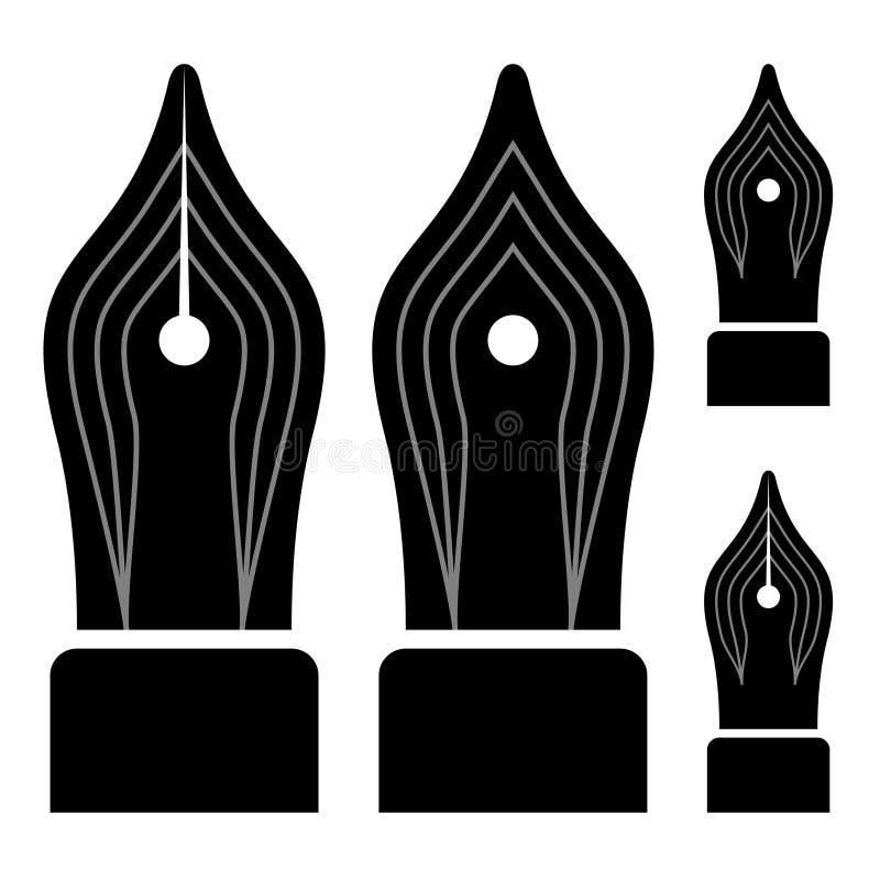 De overladen bonen van de inktpen royalty-vrije illustratie