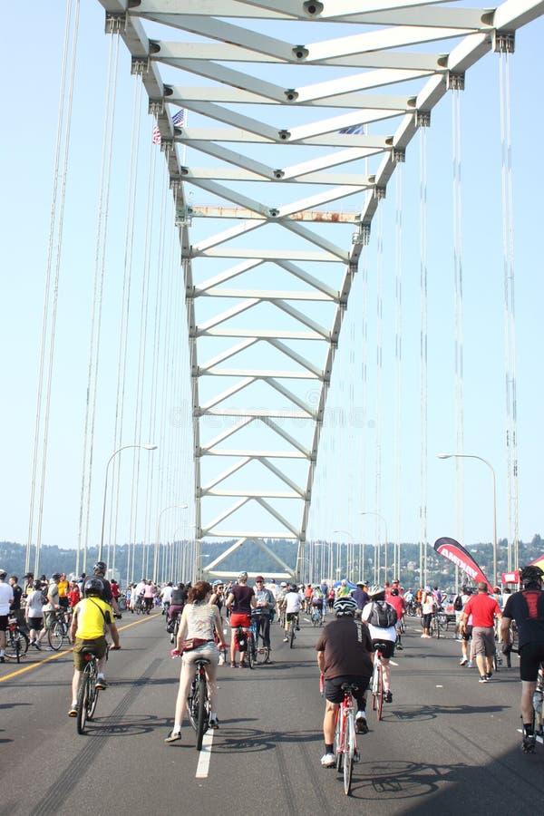 De overname Portland van fietsers royalty-vrije stock fotografie