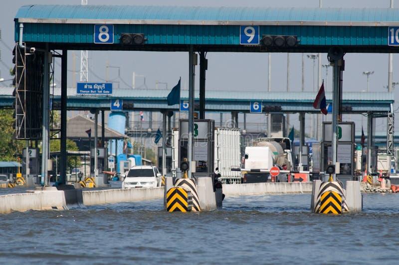 De overstroming van de moesson in Bangkok, November 2011 stock fotografie
