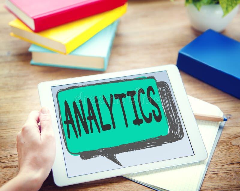 De Overweging van de Analyticsevaluatie het Concept van de Planningsstrategie stock afbeelding