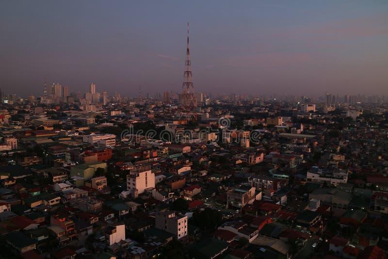 De overweldigende Mening van Manilla Twighlight stock foto