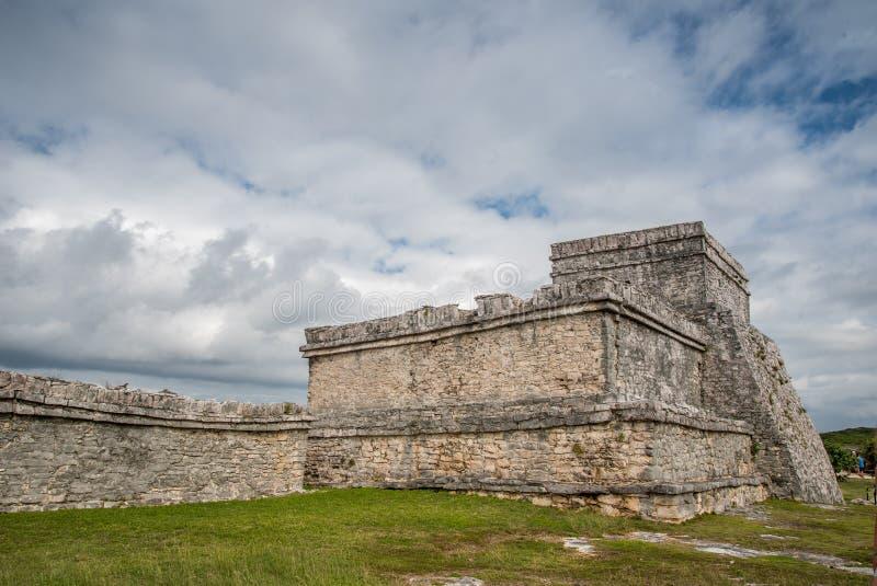 De overweldigende oude beschaving van tulummexico stock fotografie