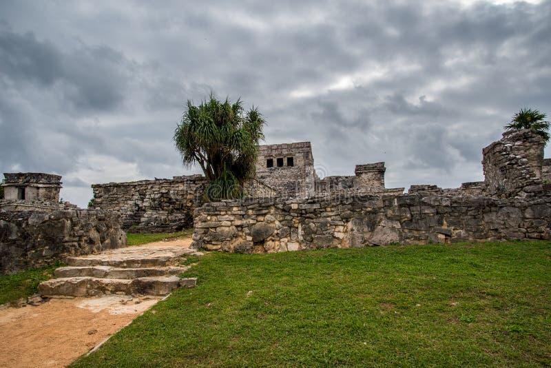 De overweldigende oude beschaving van tulummexico royalty-vrije stock afbeeldingen
