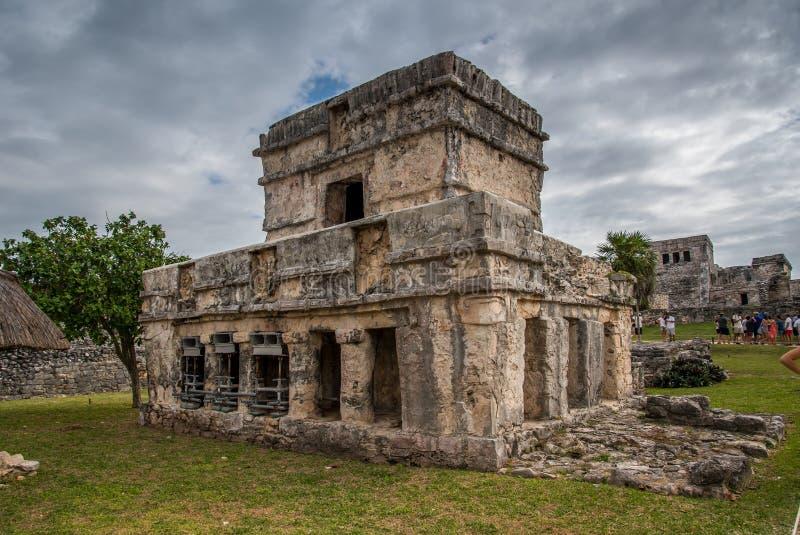 De overweldigende oude beschaving van tulummexico royalty-vrije stock foto