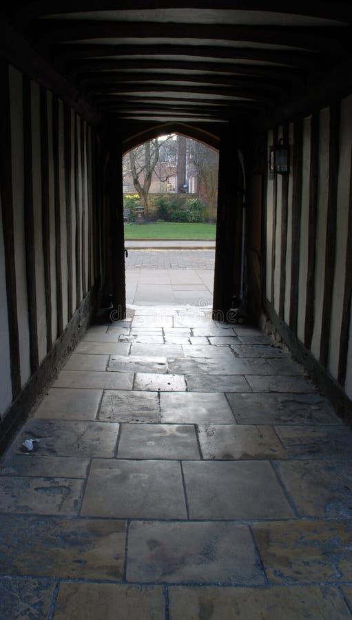 De Overwelfde galerijen van Tudor royalty-vrije stock afbeelding