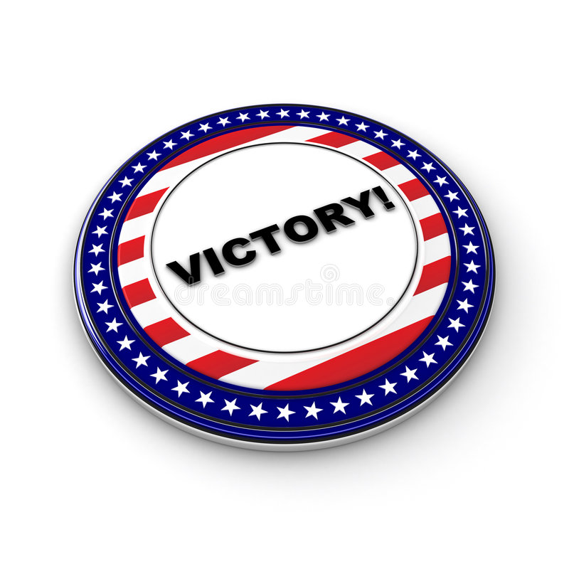 De overwinning van de verkiezing vector illustratie
