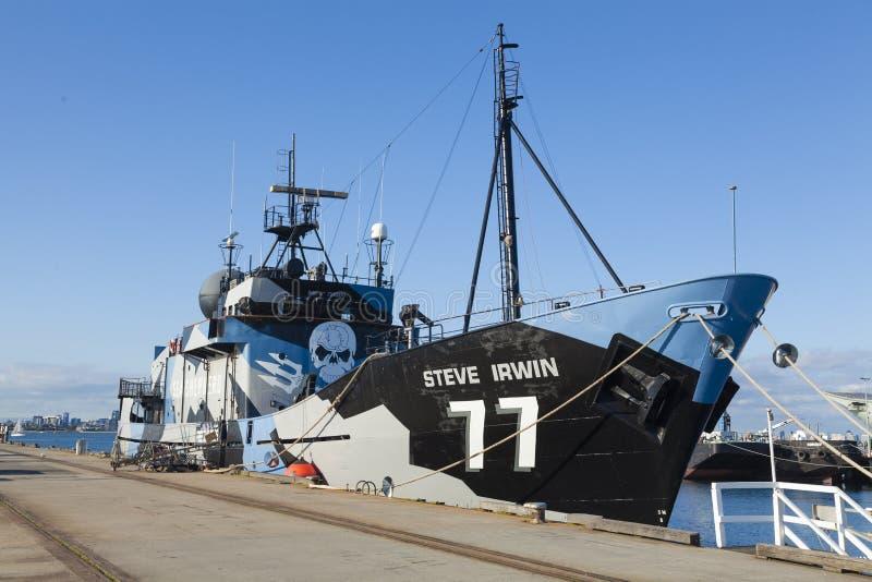 De overzeese anti-walvisvangstschip van Shephered royalty-vrije stock foto's