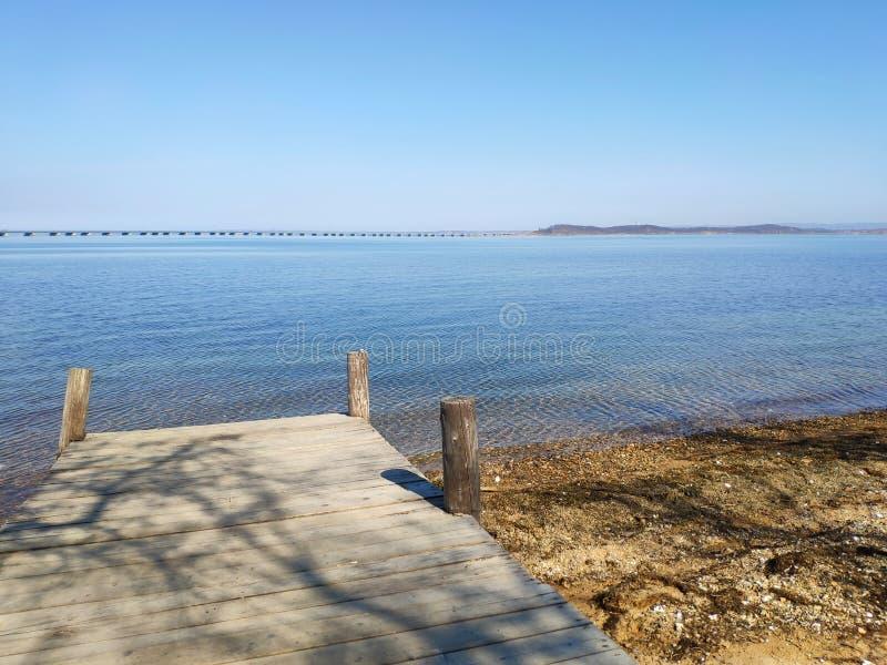 De overzeese kust in Rusland stock fotografie