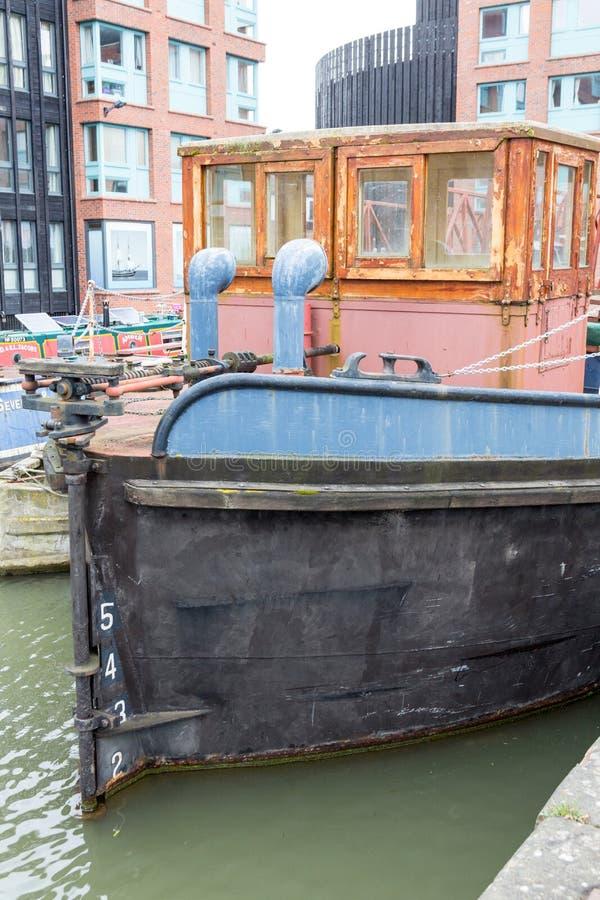 De péniches docks de Gloucester dedans photo libre de droits