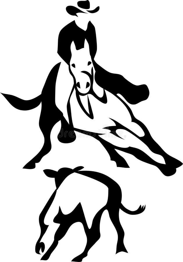 De paard scherpe concurrentie vector illustratie