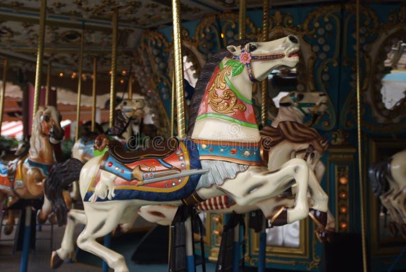 De paarden van Corousel royalty-vrije stock foto's