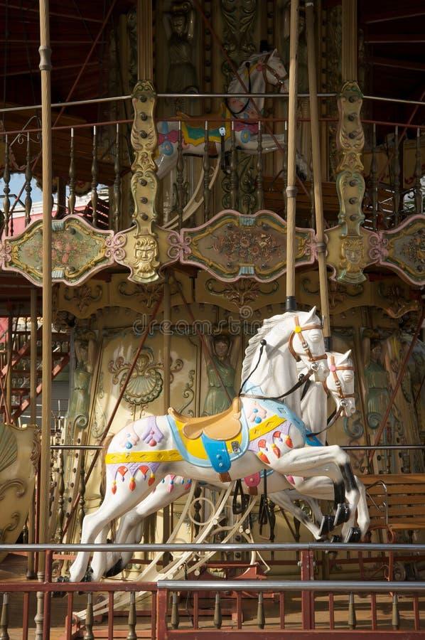 De paarden van de carrousel royalty-vrije stock afbeeldingen
