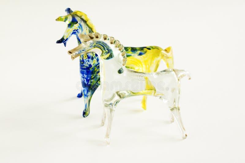 De paarden van het glas stock afbeeldingen