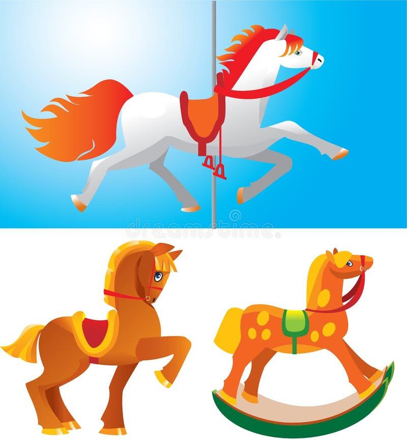 De paarden van het stuk speelgoed royalty-vrije illustratie