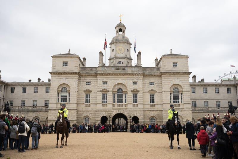 De paardwachten paraderen, Londen, Engeland royalty-vrije stock foto's