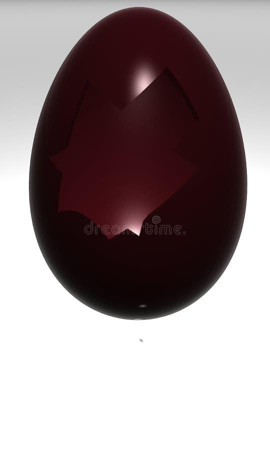 De paaseieren van de chocolade royalty-vrije illustratie