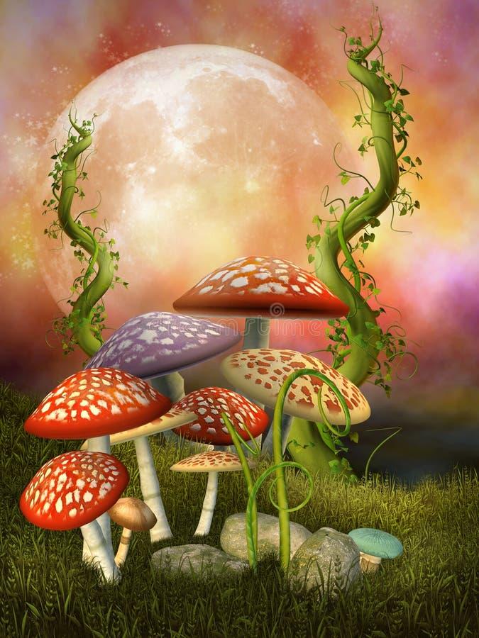 De paddestoelen van de fantasie royalty-vrije illustratie