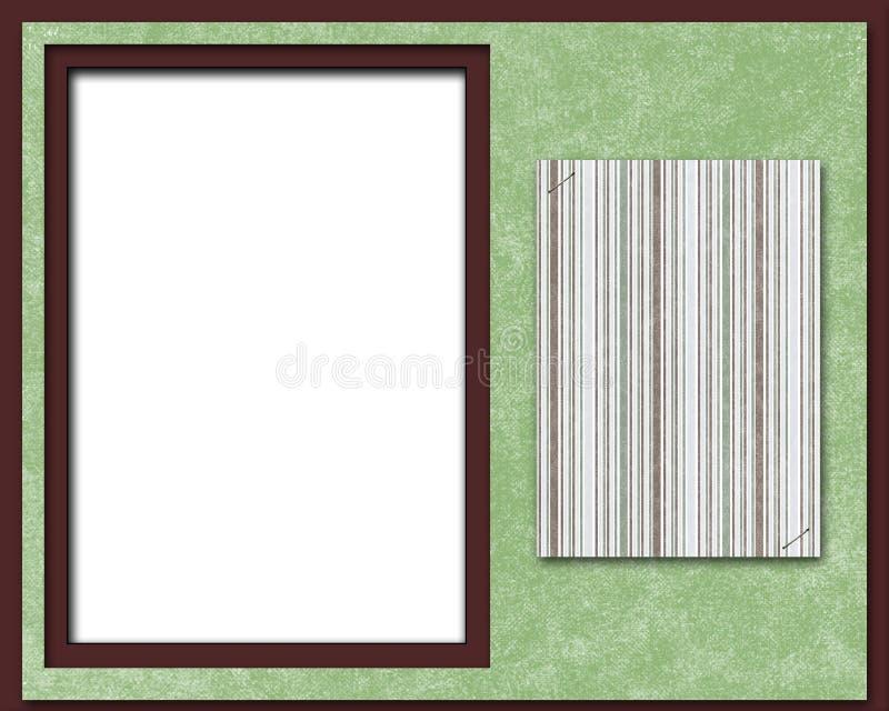 De Pagina, Het Frame Of De Kaart Van Het Plakboek Royalty-vrije Stock Afbeeldingen