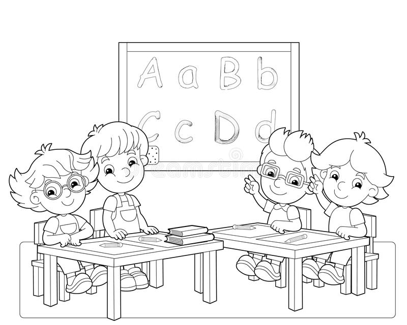 De pagina met oefeningen voor jonge geitjes - kleurend boek - illustratie voor de kinderen vector illustratie
