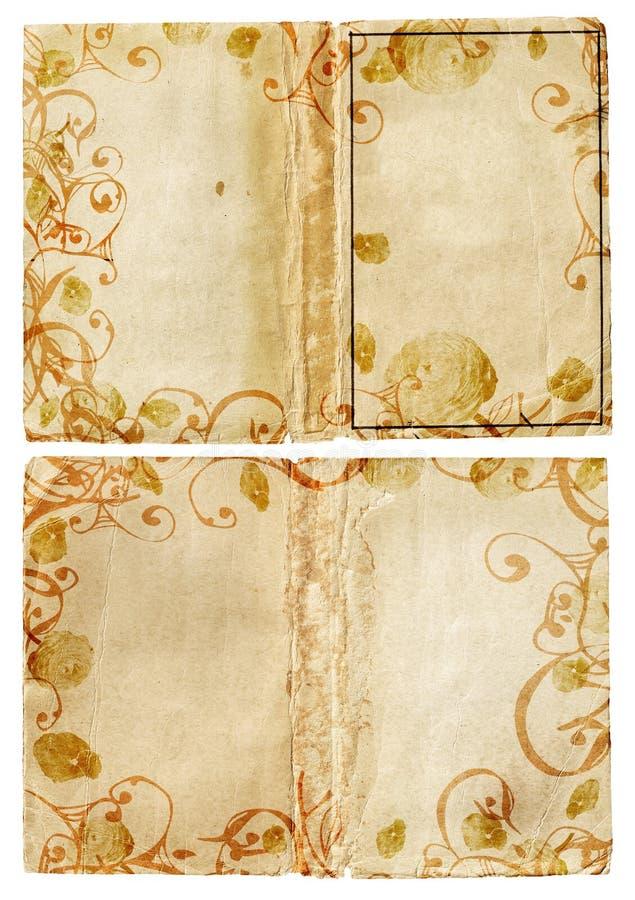 De pagina's van het de wervelingsboek van Grunge royalty-vrije illustratie