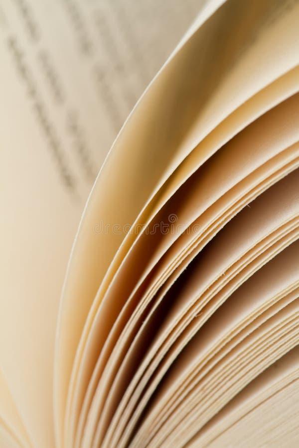 De pagina's van het document stock afbeeldingen