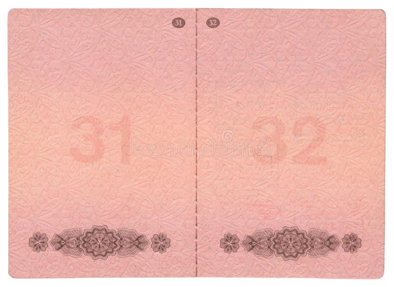 De pagina's van het paspoort royalty-vrije illustratie