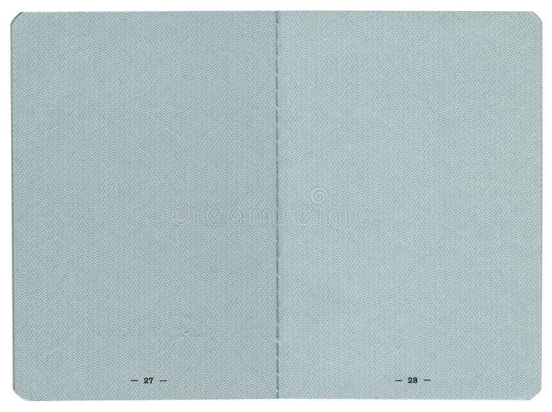 De pagina's van het paspoort royalty-vrije stock afbeelding