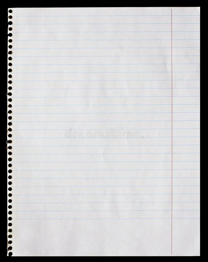De pagina van de blocnote stock afbeeldingen