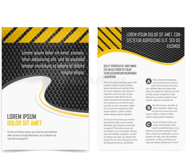 De pagina van de brochure vector illustratie