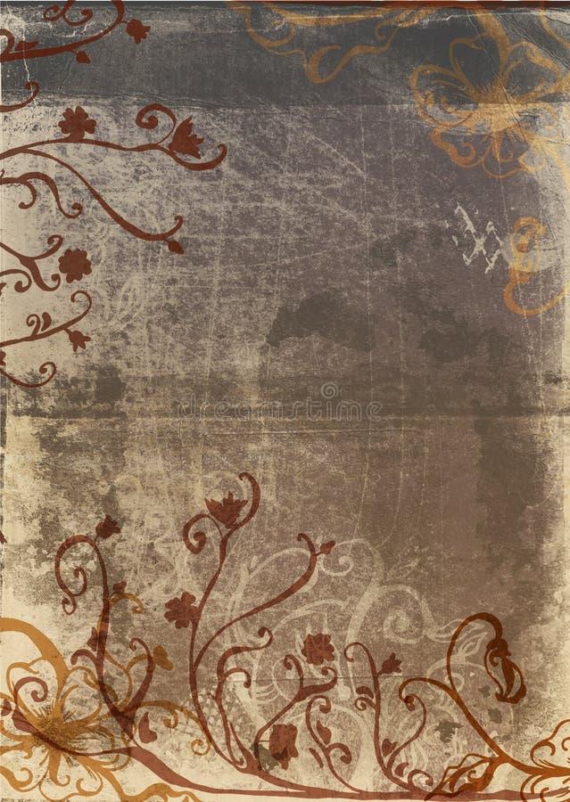 De pagina van Grunge met rustiek ontwerp stock illustratie