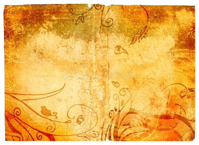 De pagina van Grunge met textuur royalty-vrije illustratie
