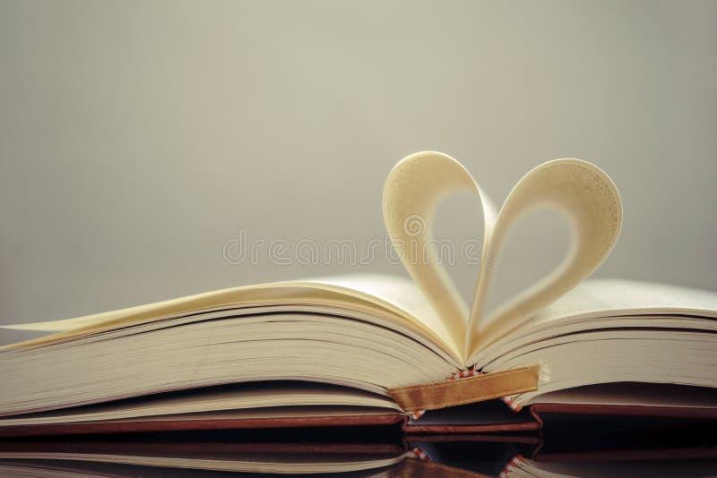 De pagina van het hartboek stock afbeelding
