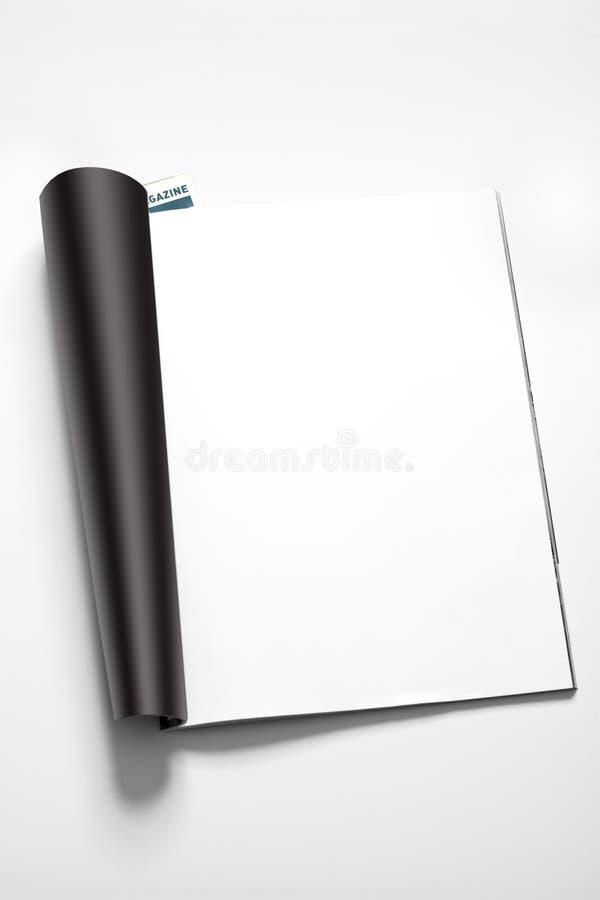 De pagina van het tijdschrift stock foto