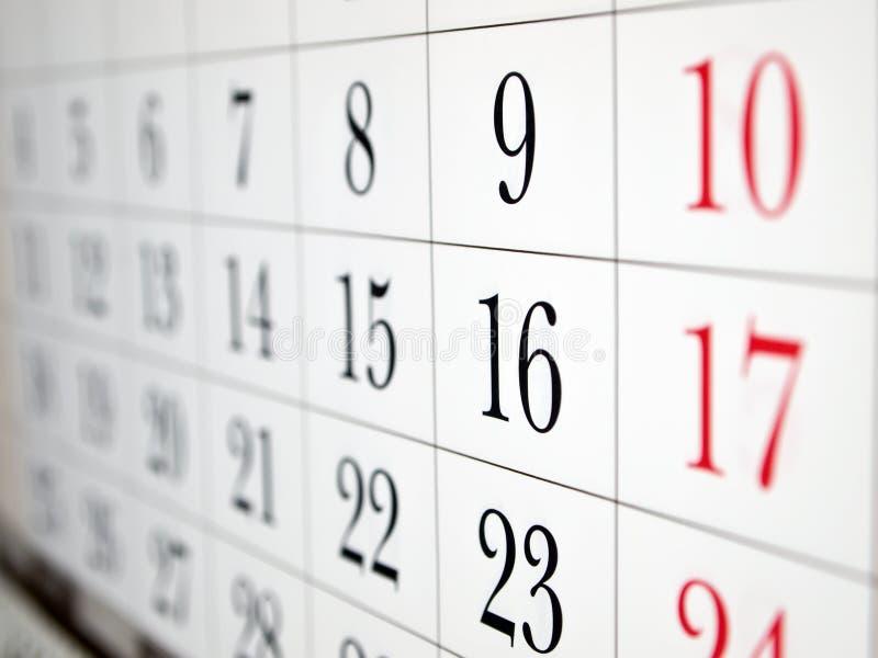 De paginaclose-up van de kalender stock foto