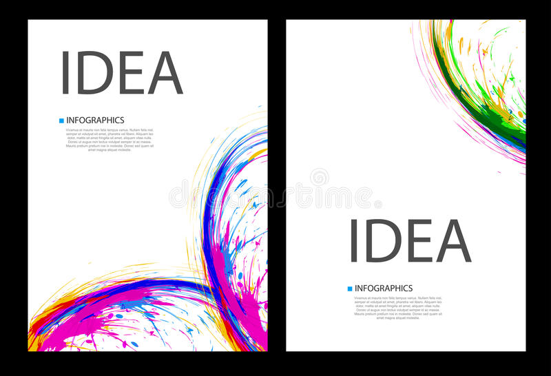 De paginalay-out van de bedrijfsinktdekking vector illustratie