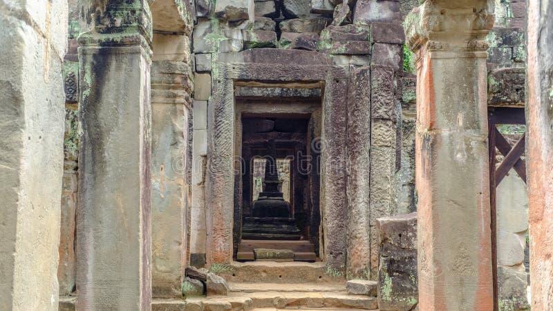 De Pagode binnen Preah Khan stock foto