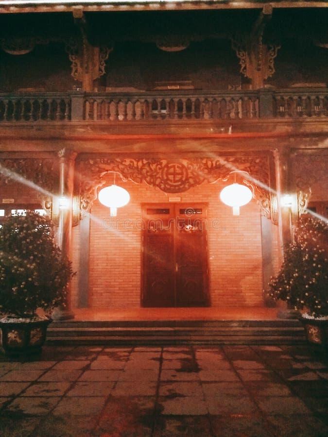 De Pagode en de nacht van bedelaarsvang royalty-vrije stock foto's