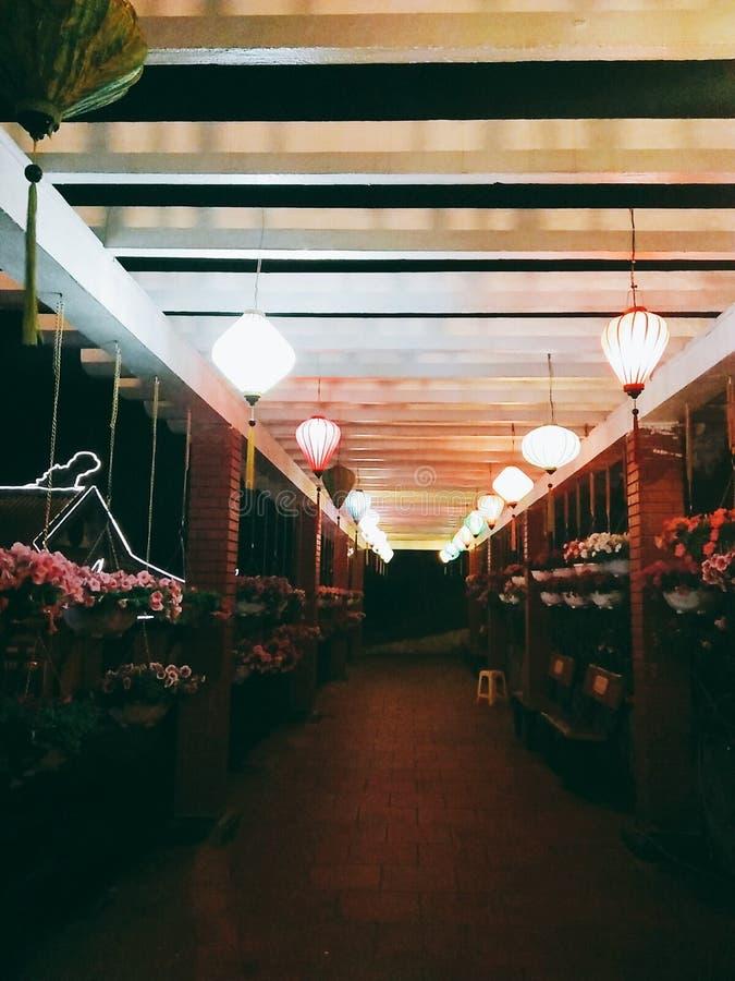 De Pagode en de nacht van bedelaarsvang stock foto's