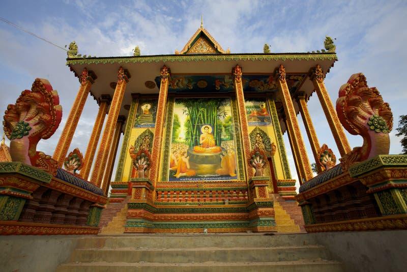 De Pagode Kambodja van Chowk van Wat royalty-vrije stock fotografie