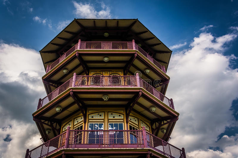 De pagode in Patterson Park in Baltimore, Maryland royalty-vrije stock fotografie