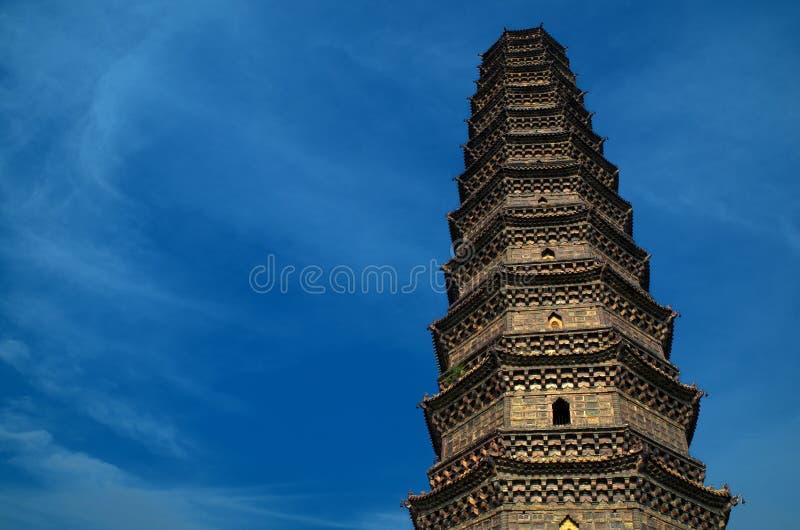 De Pagode van het ijzer in het Kaifeng, China stock afbeeldingen