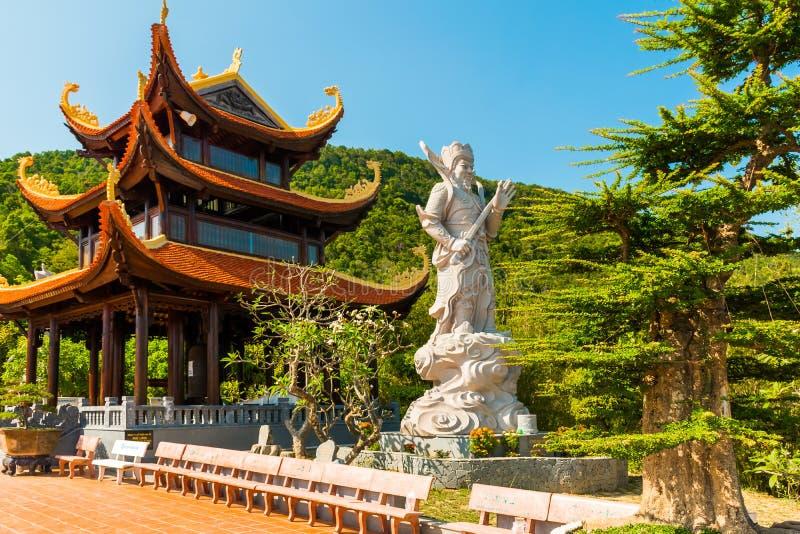 De Pagode van HU Quoc, Mooie boeddhistische tempel, het Eiland van Phu Quoc, Vietnam royalty-vrije stock afbeeldingen