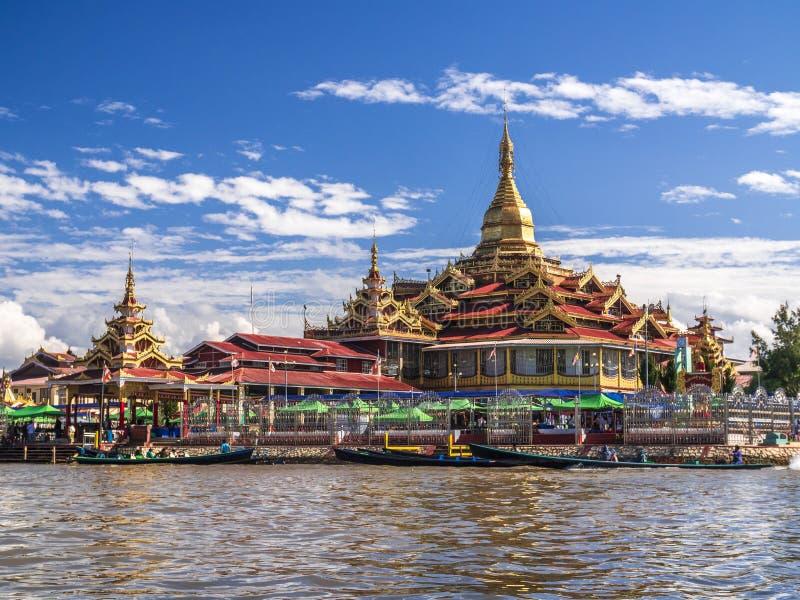 De Pagode van Phaungdaw Oo, Inle-meer, Shan-staat, Myanmar royalty-vrije stock afbeeldingen