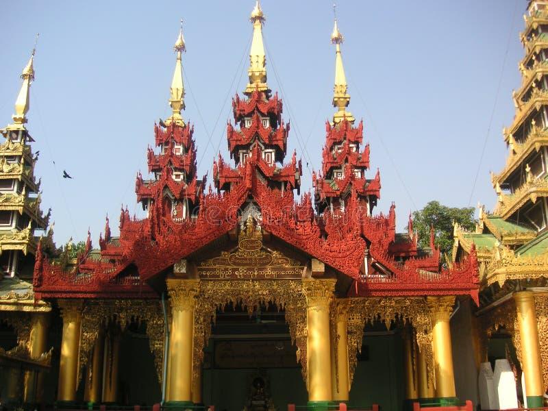 De Pagode van Shwedagon stock afbeeldingen