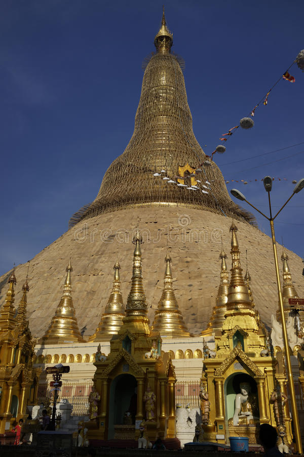 De pagode van Shwedagon, Yangon, Myanmar royalty-vrije stock afbeelding