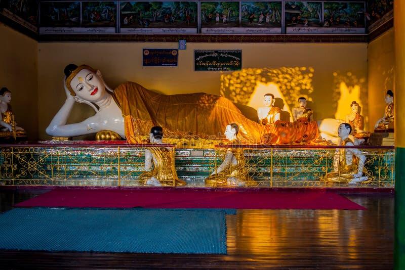 De pagode van Shwedagonpaya Yangon, Myanmar stock fotografie