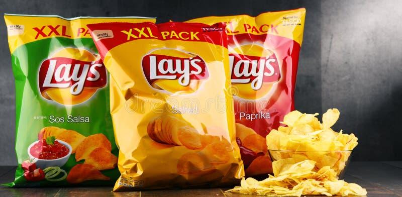 De pakketten van legt chips royalty-vrije stock foto's
